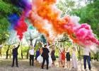 Цветной дым для свадьбы в Симферополе