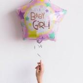 Фольгированный шар звезда «IT's A BABY GIRL», 46 см